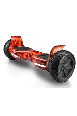 Gyropode hoverboard suv hummer tout terrain bluetooth application flamme