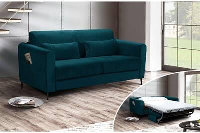Canape Convertible Lisa Design Allan Canape 3 Places Convertible