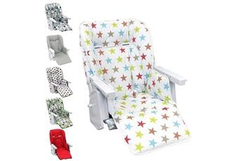 Coussin chaise haute Monsieur Bébé Housse d'assise pour chaise haute bébé enfant gamme ptit - ptit stars multicolore