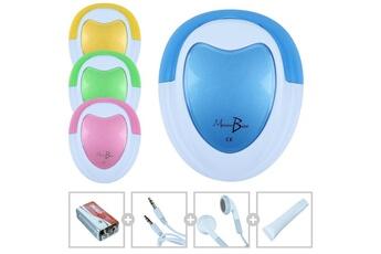Ecoute bébé Monsieur Bébé Doppler foetal monsieur bébé + gel + pile + écouteur + câble audio pour pc - bleu