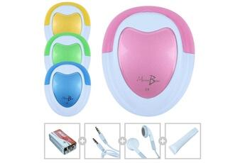 Ecoute bébé Monsieur Bébé Doppler foetal monsieur bébé + gel + pile + écouteur + câble audio pour pc - rose