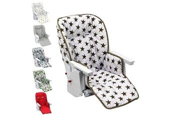 Coussin chaise haute Monsieur Bébé Housse d'assise pour chaise haute bébé enfant gamme ptit - ptit stars marron