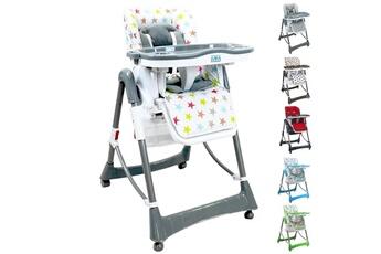 Chaise haute Monsieur Bébé Chaise haute bébé pliable réglable hauteur dossier tablette - ptit stars multicolore