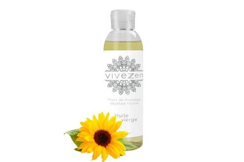 Vivezen Huile de massage, modelage 100% végétale - 200 ml - huile vierge - fait en france