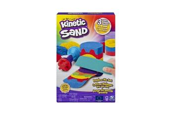 Pâte à modeler et bougie Spin Master Kinetic sand coffret m lange arc en ciel