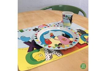Vaisselle bébé Petit Jour Paris Vaisselle enfant, à table avec barbapapa
