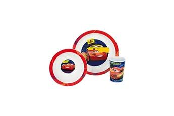 Accessoire repas Fun House Fun house disney cars ensemble repas comprenant 1 assiette, 1 verre et 1 bol pour enfant