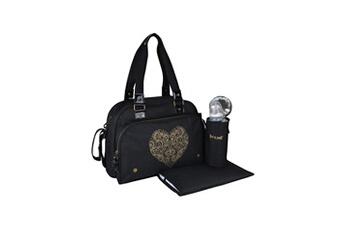 Sac à langer Baby On Board Sac a langer simply premium + accessoires - noir coeur doré