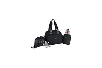Sac à langer Baby On Board - sac a langer - sac urban classic black - 2 compartiments a large ouverture zippée - 7 poches - sac repas - tap.