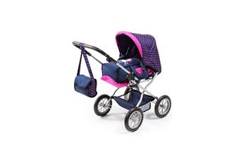 Accessoire poussette Bayer Design Bayer set grand landau pour poupée licorne bleu et rose vif avec un sac a bandouliere, lit de voyage, porte bébé, tétine, bibero