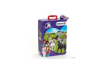 Figurine KLEIN Schleich horse club - mallette pour collection 10 chevaux