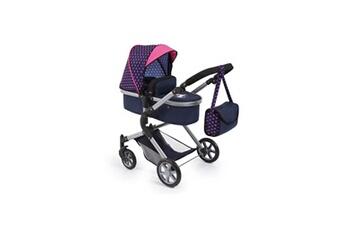 Accessoire poussette Bayer Design Bayer landau pour poupée neo star licorne bleu et rose avec sac a bandouliere et panier d'achat intégré - convertible poussette