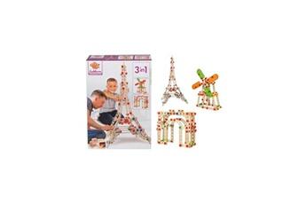 Autres jeux de construction Eichhorn Eichhorn jeu construction bois - tour eiffel 3 en 1 - 315 pieces