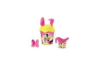 Bac à sable MONDO Minnie - seau garni complet - 17 cm - accessoires de plage - fille - a partir de 3 ans