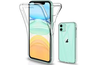 Evetane Coque compatible avec Apple iPhone 11 Pro Max 360 intégrale coque avant arrière resistant fine protection solide housse