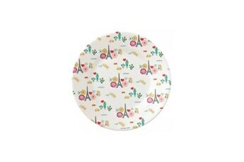 Vaisselle bébé PETIT JOUR Assiette dessert motifs fleurs tour eiffel le paris d emilie