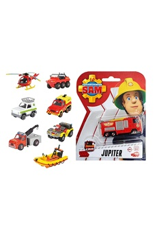 Figurines personnages Dickie Dickie 203091000 - sam le pompier, assortiment de véhicules, 1 pièce