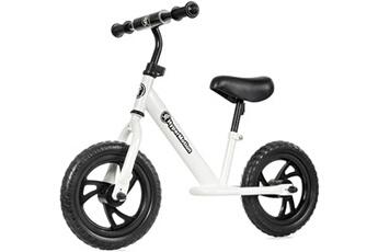 Draisienne Hypermotion Draisienne vélo sans pédales 12 pouces pour enfant de 2 à 5 ans (30 kg) roues en mousse, hauteur selle & guidon réglables (blanc)