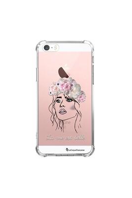 Coque iphone 5/5s/se anti-choc souple angles renforcés transparente la vie est belle la coque francaise.