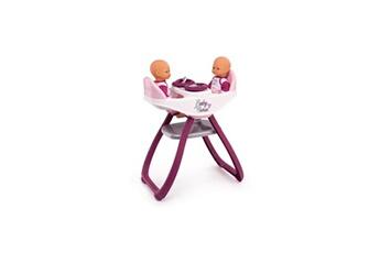 Poupées SMOBY Smoby baby nurse chaise haute jumeaux + 4 accessoires