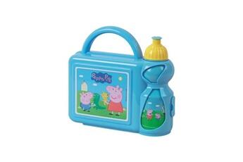 Coffret repas bébé Fun House Fun house peppa pig ensemble gouter comprenant un sac bandouliere, une gourde et une boîte goûter pour enfant