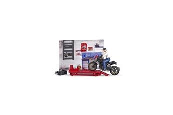 Jeux d'imitation Bruder Bruder - coffret figurine mecanicien bworld avec moto et accessoires