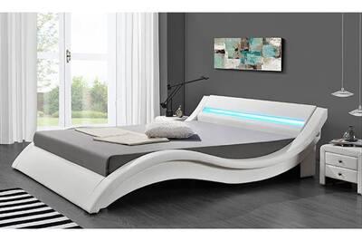 lit design led blanc 160 x 200 cm