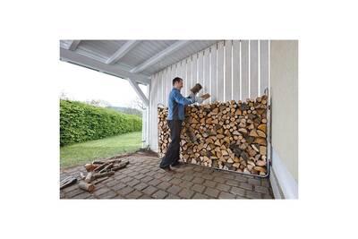 Outil pour couper et débiter le bois GENERIQUE Icaverne - sacs et paniers à bûches admirable support d'empilement de bois de chauffage modulaire xxl