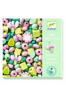 Figurines personnages Djeco Djeco dj09808 - 450 perles en bois feuilles et fleurs