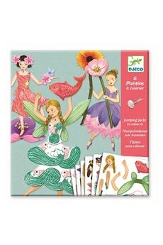 Figurines personnages Djeco Djeco dj09654 - 6 pantins à colorier - fées