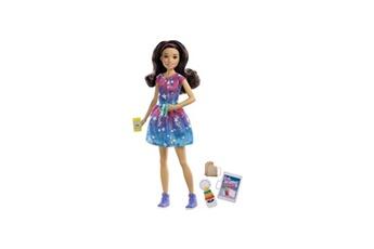 Poupées Alpexe Barbie - coffret babysitter brune - poupée mannequin - 3 ans et +