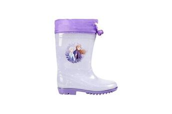 Accessoires de déguisement Alpexe La reine des neiges 2 botte de pluie a ceinture blanc/violet enfant fille - taille 32
