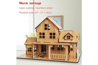 Puzzles AUCUNE Puzzle de jouet 3d bricolage maison villa enfants garçons filles papier éducative -multicolor