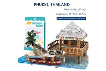 Puzzles AUCUNE Puzzle jouet 3d maison de bricolage villa enfants garçons filles puzzle de papier de maison éducative