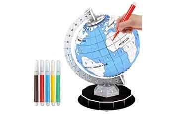 Jouets éducatifs Generic 3d puzzle en trois dimensions modèle fait main diy couleur terre assemblé jouet 1-2 ml bt1096