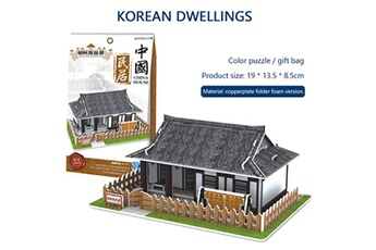 Puzzles AUCUNE Puzzle jouet 3d maison de bricolage villa enfants garçons filles éducatifs maison papier puzzle