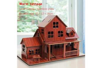 Puzzles GENERIQUE Puzzle jouet 3d bricolage maison villa enfants garçons