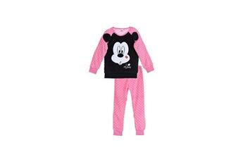 Déguisements Alpexe Minnie pyjama pantalon et t-shirt coral fleece rose fille - taille 3 ans