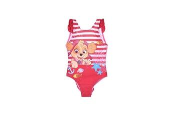Accessoires déguisement Alpexe Paw patrol maillot de bain 1 piece a frou frou fille 85% polyester 15% elasthanne rose - taille 3 ans