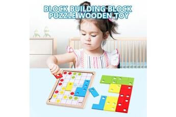 Puzzles AUCUNE Les enfants de l'école élémentaire en bois blocs de construction de la pensée logique puzzle puzzle