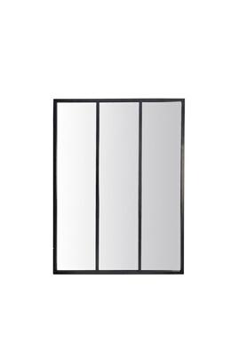 No-name Louvil - miroir verrière en métal 90x120 cm - couleur - noir