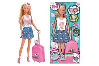 Poupées Marque Generique Poupee hello kitty - steffi love en voyage poupée 29cm