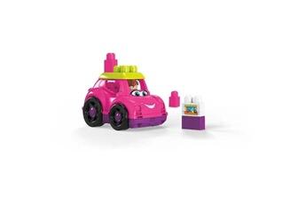 Véhicules miniatures Marque Generique Vehicule a construire - engin terrestre a construire megabloks - lil'véhicule convertible rose -12 mois et +