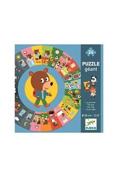 Figurines personnages Djeco Djeco dj07015 - puzzle géant - la journée
