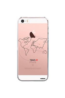 Coque iphone 5/5s/se souple transparente travel motif ecriture tendance evetane