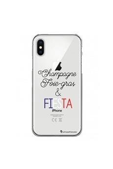 Coque iPhone 11 360 intégrale transparente Champagne Foie gras et Fiesta Ecriture Tendance Design La Coque Francaise