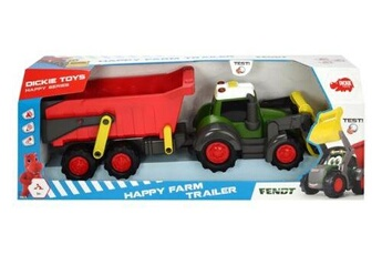 Circuits de voitures Dickie Dickie toys tracteur fendt happy farm trailer
