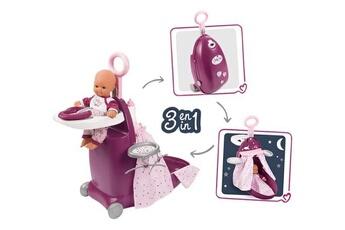 Accessoires de poupées SMOBY Baby nurse 3 en 1 lit valise et chaise haute