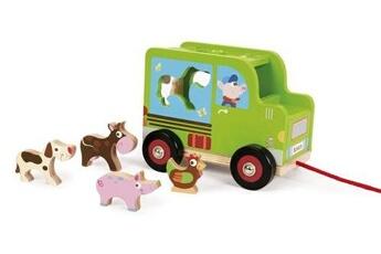 Jouets premier âge Sanrio Scratch figurine de traction chariot de triage agricole vert 18 cm
