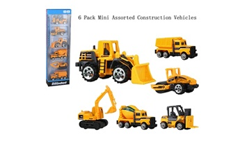 Accessoires pour la voiture Generic 6 pack mini assorted construction vehicles & car toys best gift for children car1192